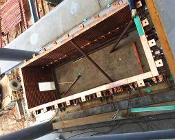 烟化炉铜水套现场安装照片