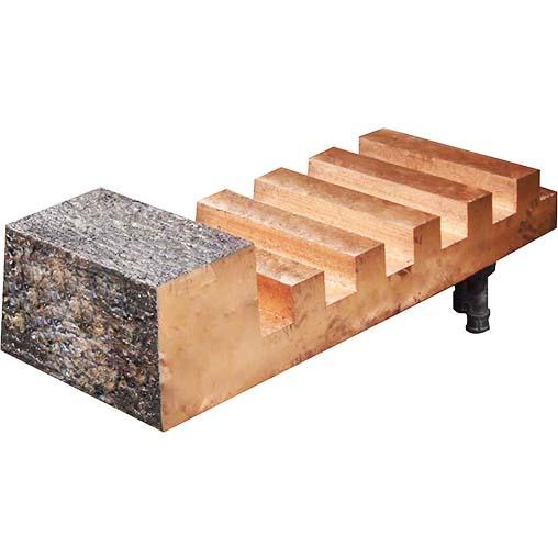 镍闪速炉堆焊接耐磨耐热合金齿型铜水套
