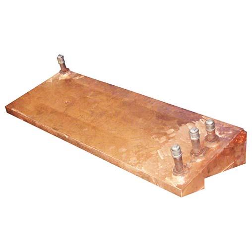 矩形镍铁电炉拱脚铜水套