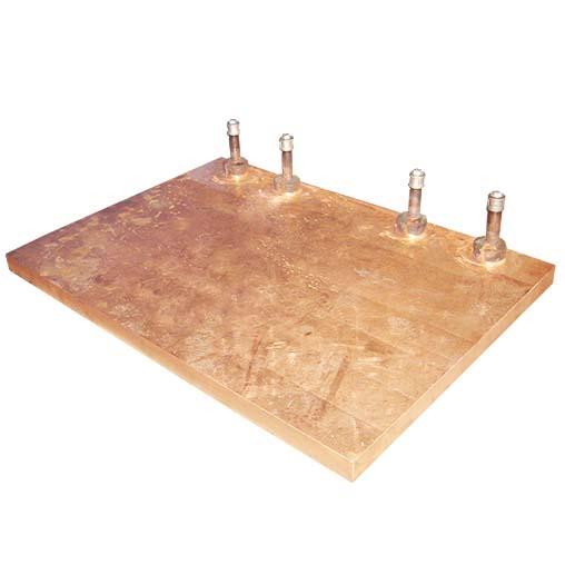 矩形镍铁电炉立面铜水套