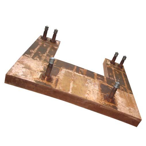 圆形镍铁电炉立面铜水套