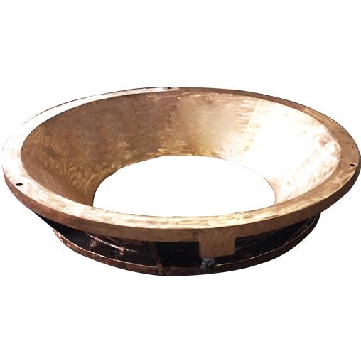 煤气化炉下膛铜水套