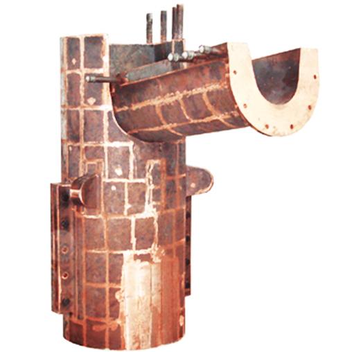 奥斯麦特炉铜锍排放溜槽尾部水套
