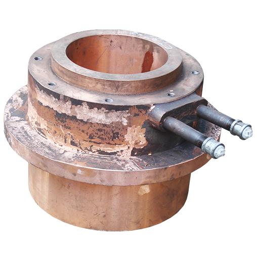 基夫赛特炉反应塔顶精矿喷嘴铜水套