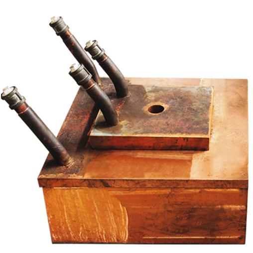 贫化电炉放铜口大小水套