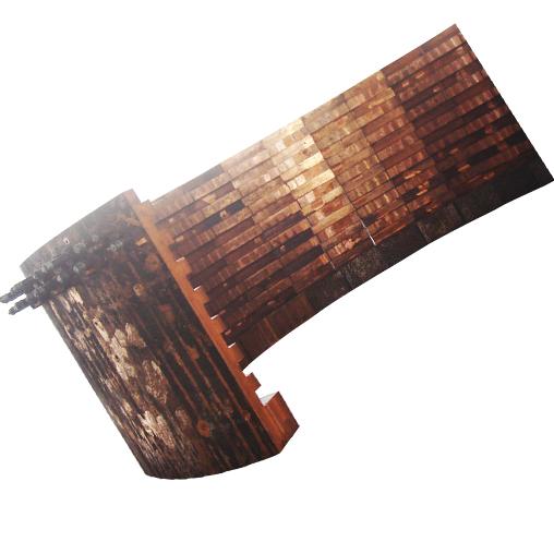 旋吹炉上升烟道齿形铜水套