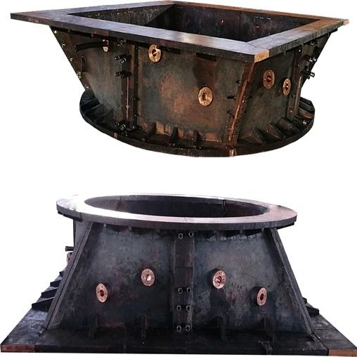 侧吹炉烟道整体式铜水套