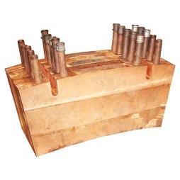 镍闪速炉反应塔铜水套