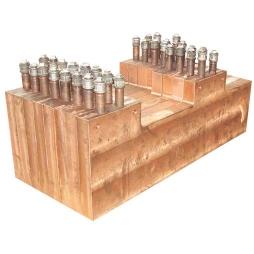 矩形镍铁电炉平面铜水套