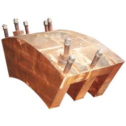 顶吹炉齿型铜水套
