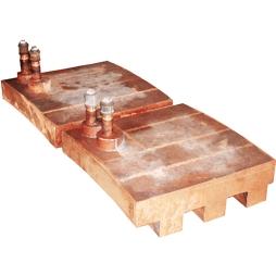 富氧顶吹镍熔炼炉齿型铜水套
