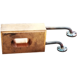 富氧顶吹镍熔炼炉放渣口铜水套