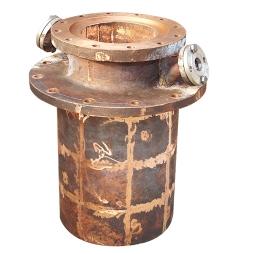 富氧顶吹镍熔炼炉烟道口铜水套