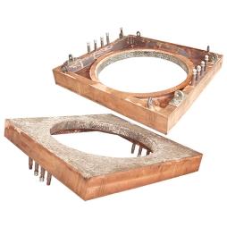 闪速吹炼炉上升烟道孔座用堆焊耐磨、耐热合金铜水套