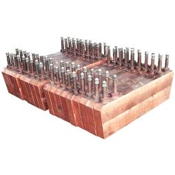 闪速炉反应塔铜水套