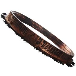 旋吹炉反应塔底部齿形铜水套