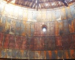 沙钢5800m3高炉炉缸用铸铜冷却壁现场安装图片
