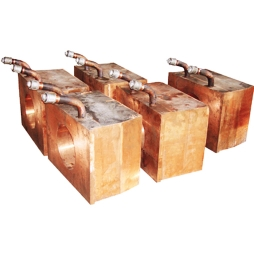 Copper water jacket for copper and slag in oxygen-enriched top nickel blowing smelting furnace