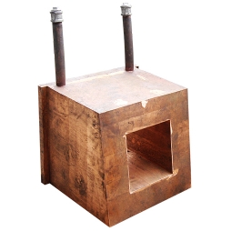 Copper water jacket of slag in oxygen-enriched top-blown nickel smelting furnace
