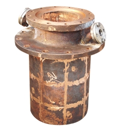 Copper water jacket for flue gas crossing of oxygen-enriched top-blown nickel smelting furnace