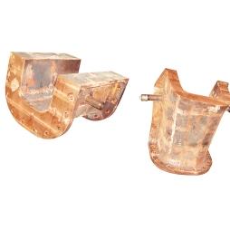 Lead slag flow trough of Keefe-Dorset Furnace