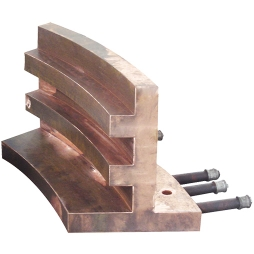 Spiral blowing furnace reaction tower tooth profile copper water jacket